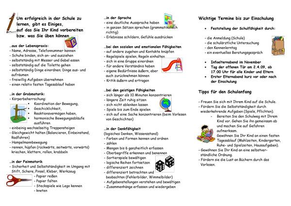 Tipps zur Vorbereitung auf die Schule